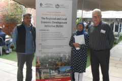 From left Dr Shamim Bodhanya, Professor Cassim and Dr Stanley Hardman