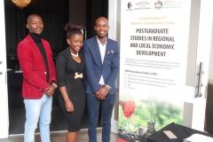 PHD STUDENTS From Left Mr Methembee Mdlalose, Miss Sinethemba Mthimkhulu and Mr Sinakhonkonke